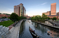 WaterFire-river--at-dusk